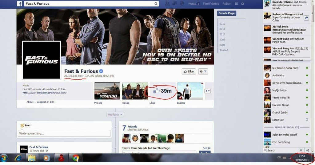 Most Liked Movie Facebook Page