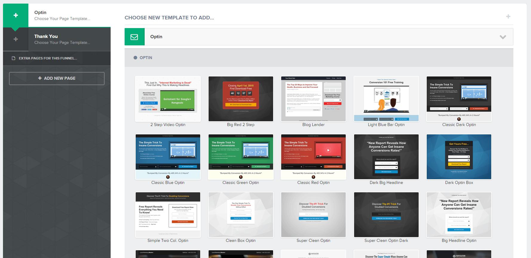 ClickFunnel Page Designs